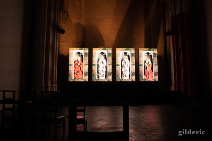 "Visiter Gand : évocation de l'Agneau mystique pendant ""Lights on Van Eyck"""