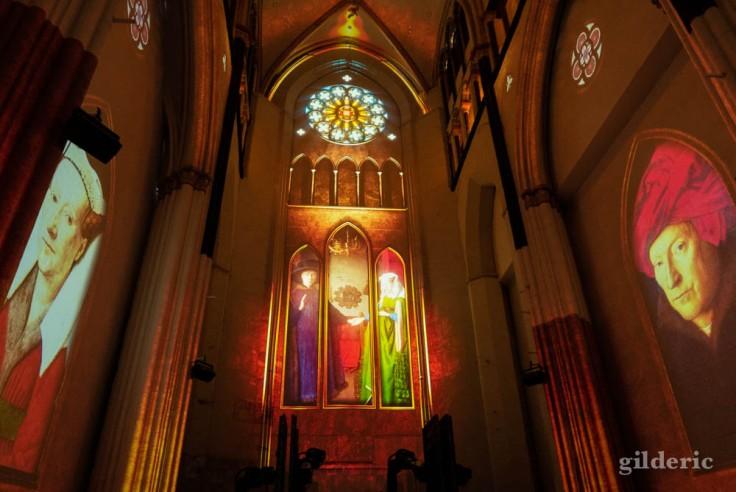 Lights on Van Eyck rend hommage aux peintures de Van Eyck