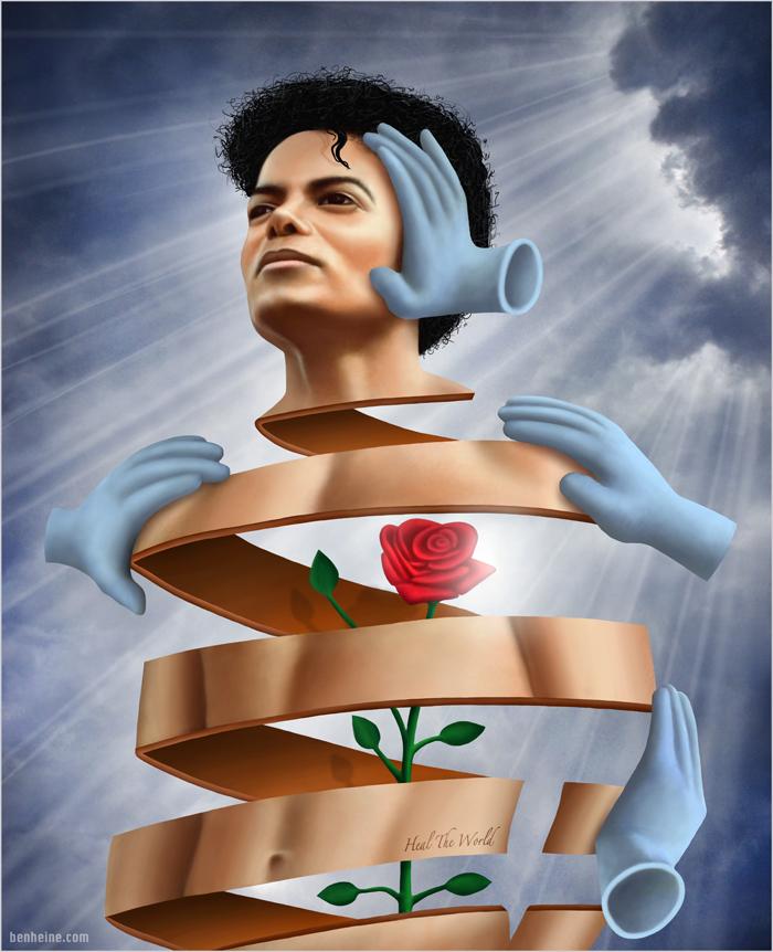 """Heal The World"" - Hommage de Ben heine à Michael Jackson"
