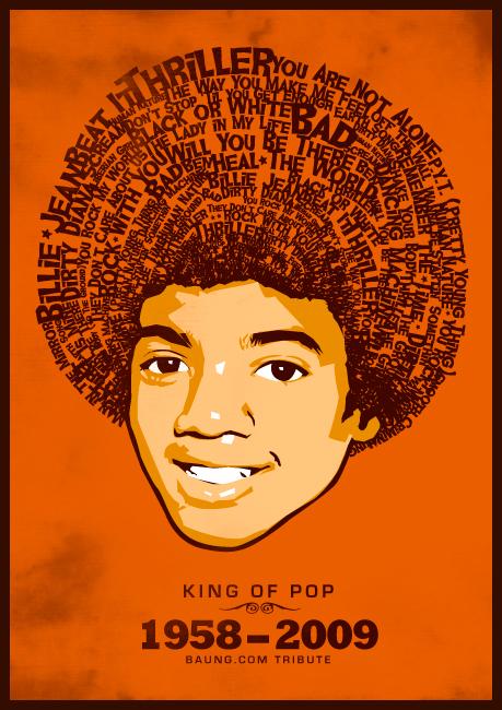 Michael Jackson In Memory (illustration vectorielle par Baung)