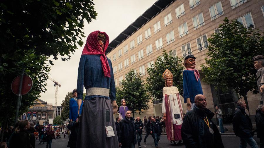 Fêtes de Wallonie à Liège : Géants Tchantchès et Nanesse