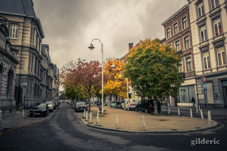 Automne à Liège avant le reconfinement : boulevard Saucy en Outremeuse (photo)