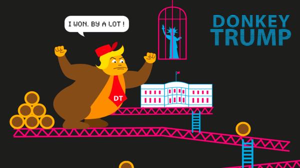 Donkey Trump : parodie animée de Donald Trump en Donkey Kong