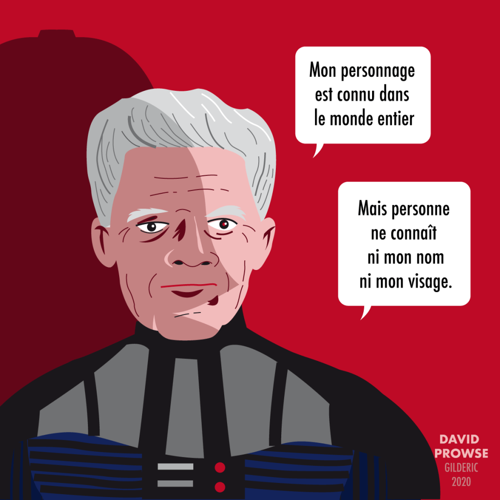 David Prowse interprète Dark Vador (dessin vectoriel) en flat design
