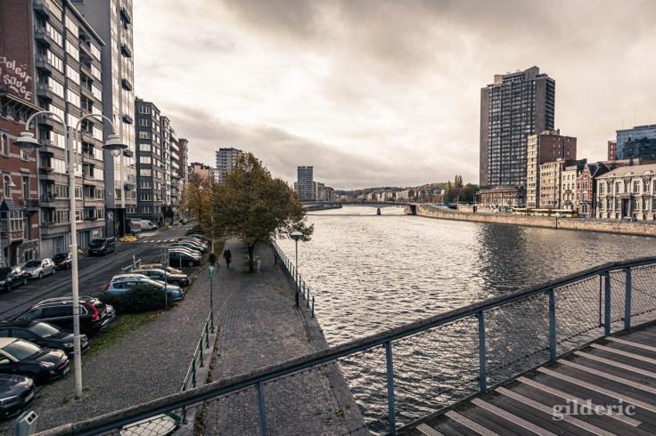 Liège en automne : au-dessus de la Meuse