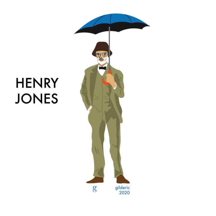 """Sean Connery est Henry Jones dans """"Indiana Jones et la dernière croisade"""" : illustration vectorielle en flat design"""
