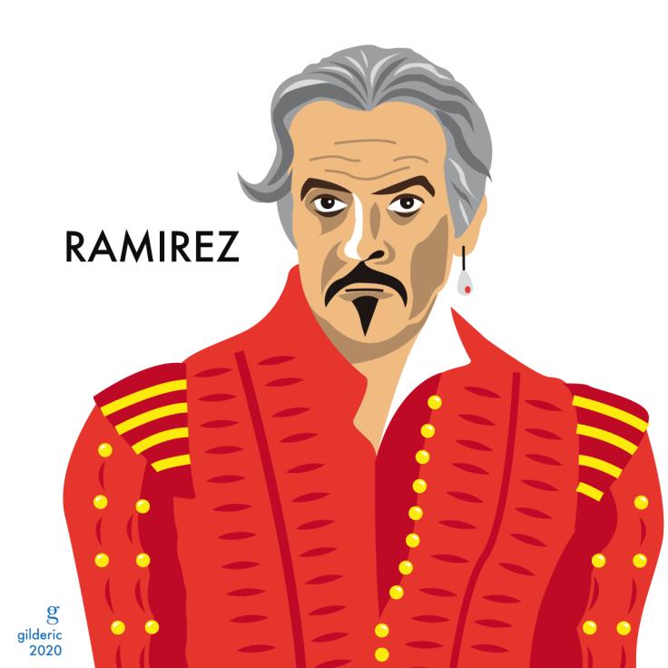 Sean Connery est Juan Ramirez dans Highlander : illustration vectorielle en flat design