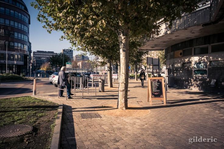 Liège en automne : Capuccino sous le soleil.