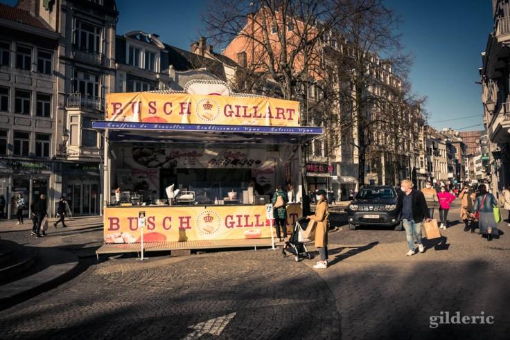Automne à Liège : baraque foraine au centre-ville