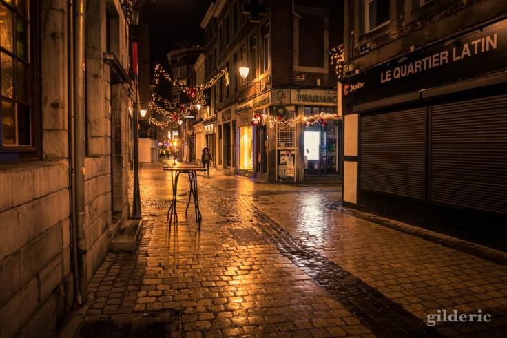 Photographier Noël : rue Saint-Paul à Liège