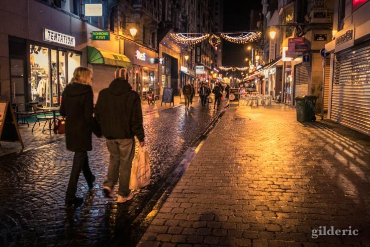 Photographier Noël : boulevard Pont d'Avroy à Liège