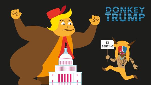 Donkey Trump au Capitole : une parodie animée