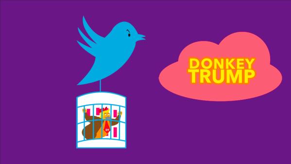 Donkey Trump III vs Twitter & Facebook (parodie)