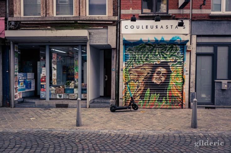 Street art rasta, rue Saint-Gilles Liège