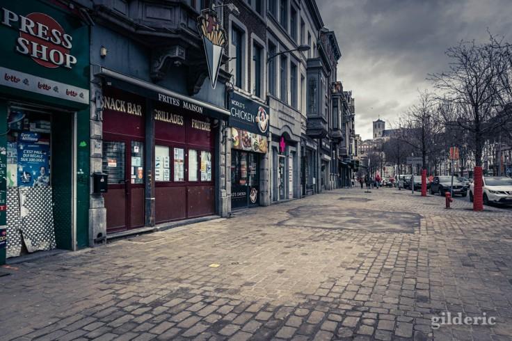 Liège, ville sinistrée par les confinements