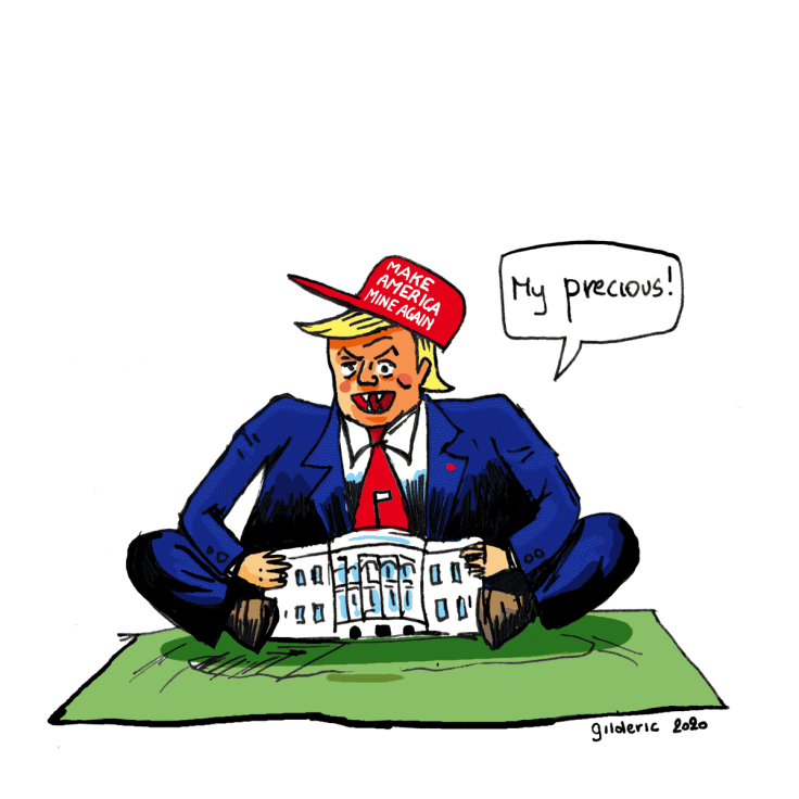 Donald Trump refuse de quitter la Maison-Blanche (dessin)