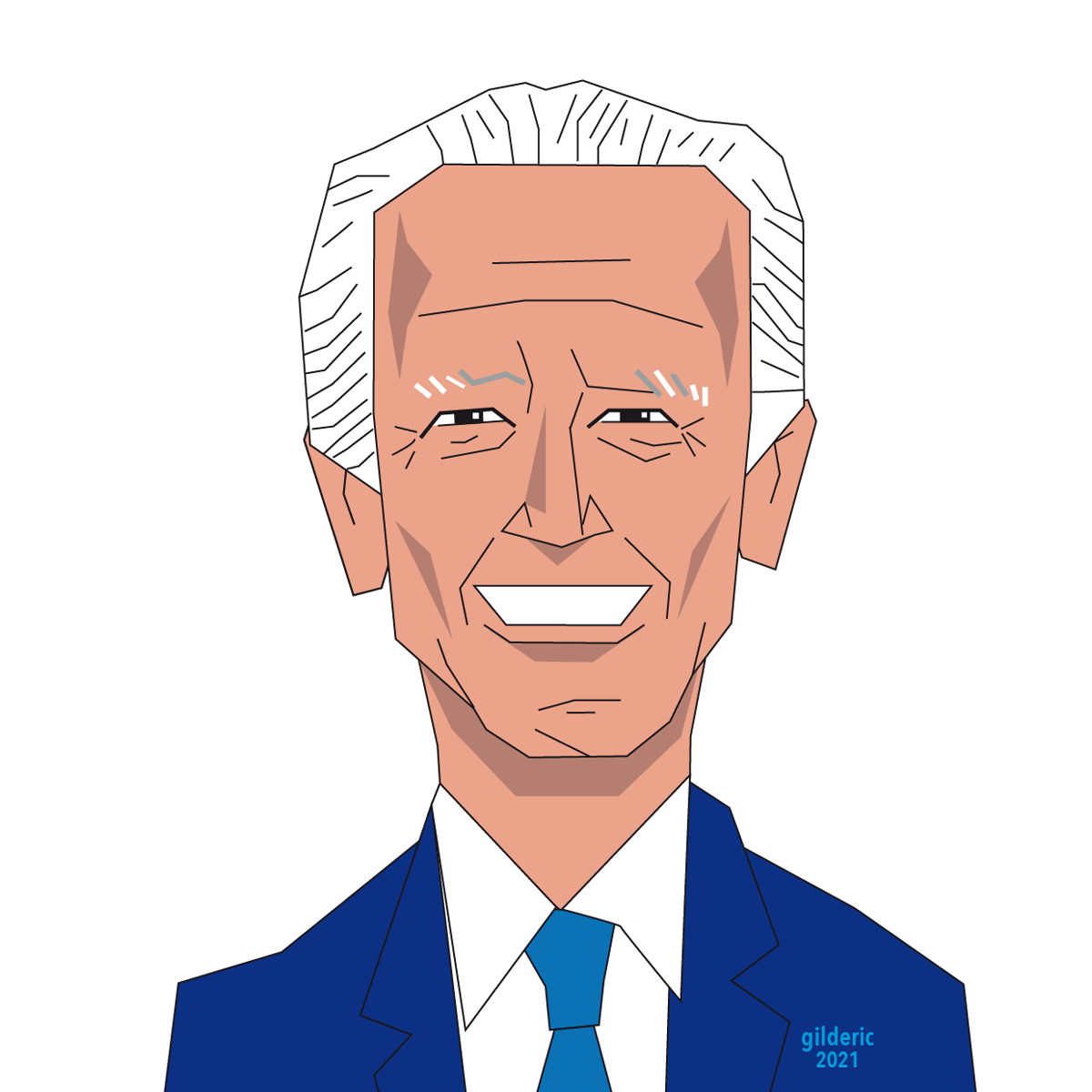 Joe Biden, portrait présidentiel avec Adobe Illustrator