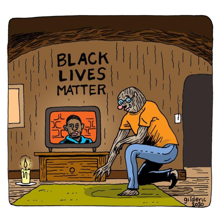 Black Lives Matter (dessin hommage à George Floyd)