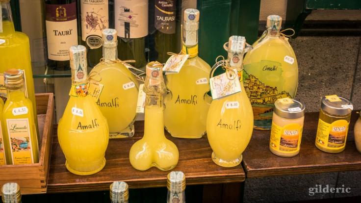 Bouteille érotique de Limoncello (Amalfi)