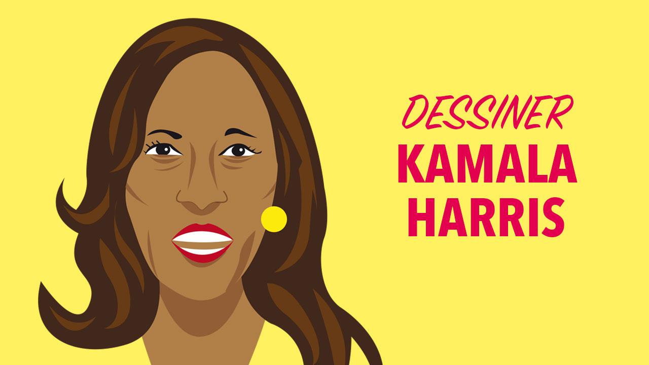 Comment dessiner Kamala Harris ?