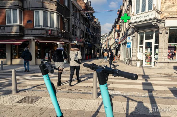 Rue Saint-Paul sous le froid (Liège)