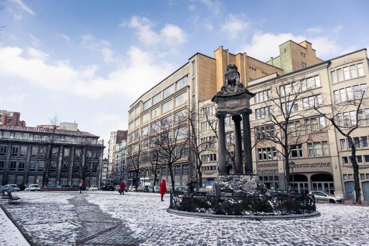 Place Saint-Paul sous la neige (Liège)