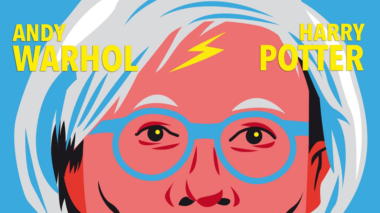 Mashup Andy Warhol x Harry Potter