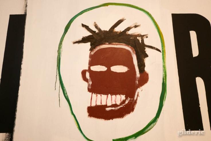 Détail d'un tableau de Basquiat et Warhol (expo à la Boverie, Liège)