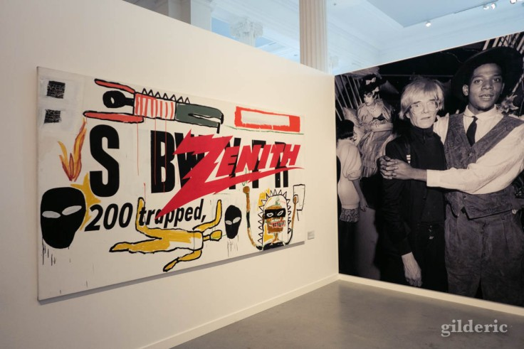 Collaboration Basquiat-Warhol, à l'exposition à la Boverie (Liège)
