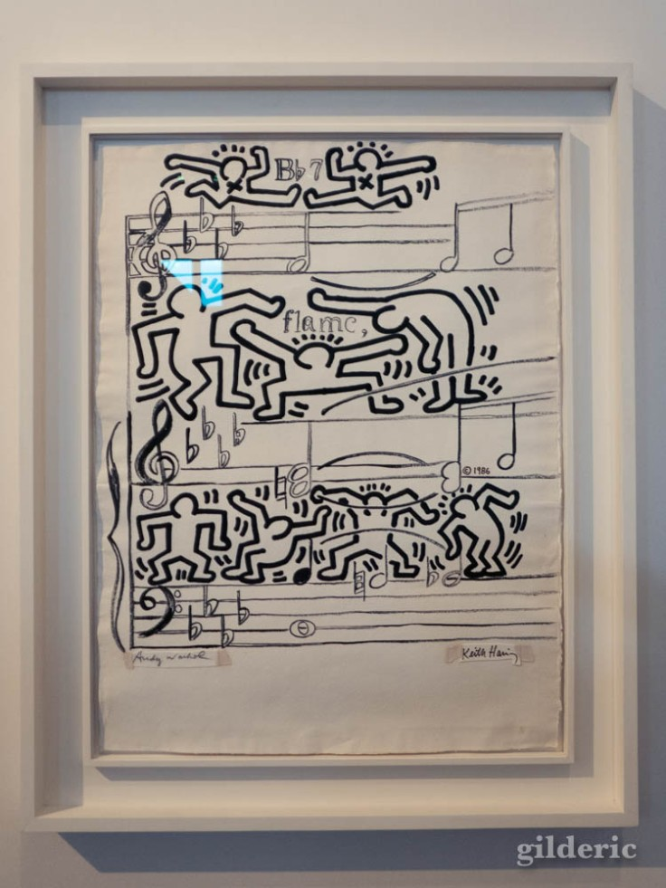 Collaboration de Keith Haring avec Andy Warhol