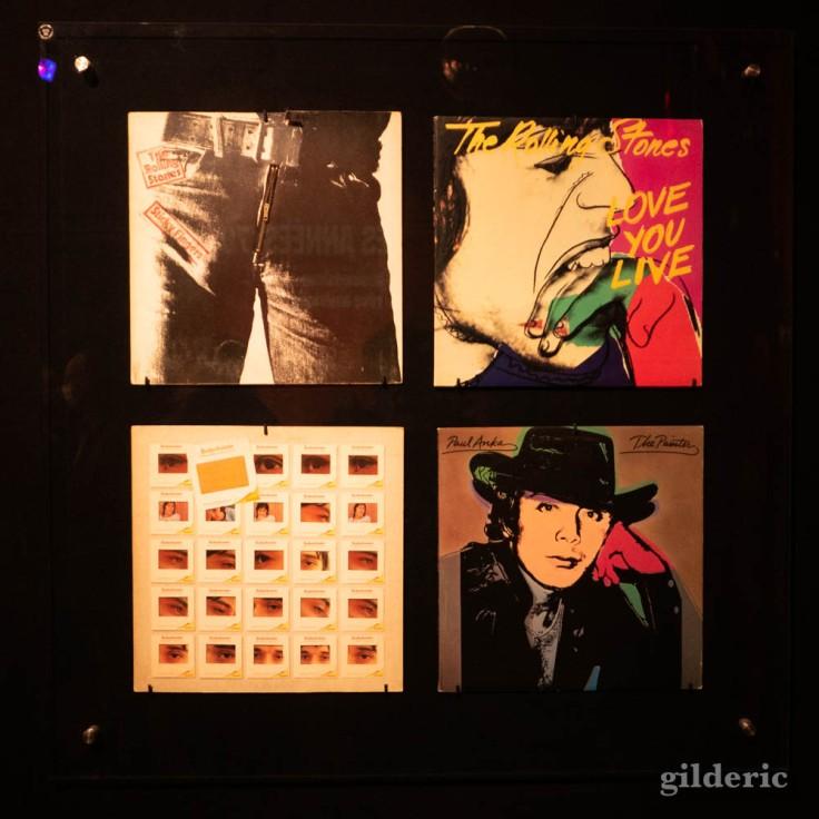 Pochettes de disques rock par Andy Warhol