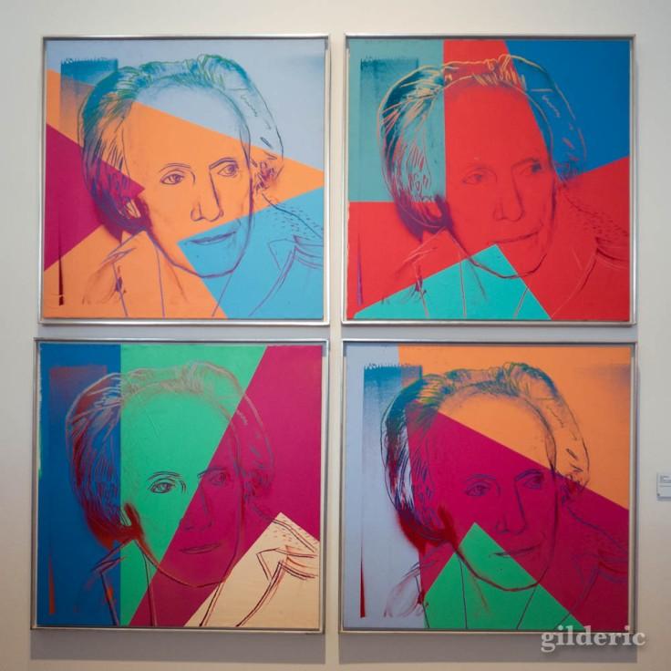 Portrait de Paul Delvaux, par Andy Warhol