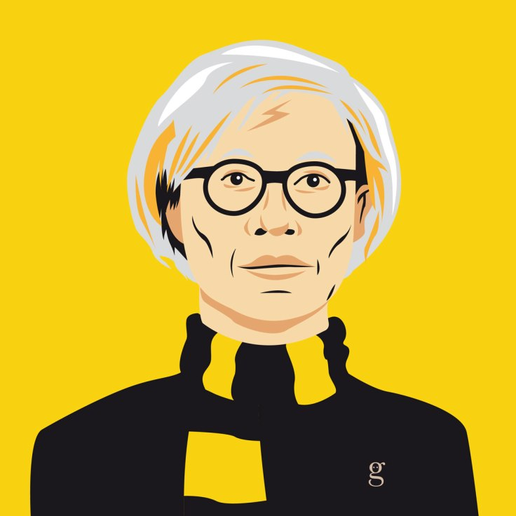 Mashup Andy Warhol x Harry Potter (vector illustration) - variante Poufsouffle