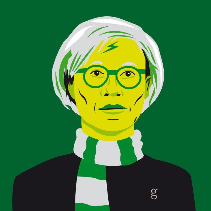 Mashup Andy Warhol x Harry Potter (vector illustration) - variante Serpentard