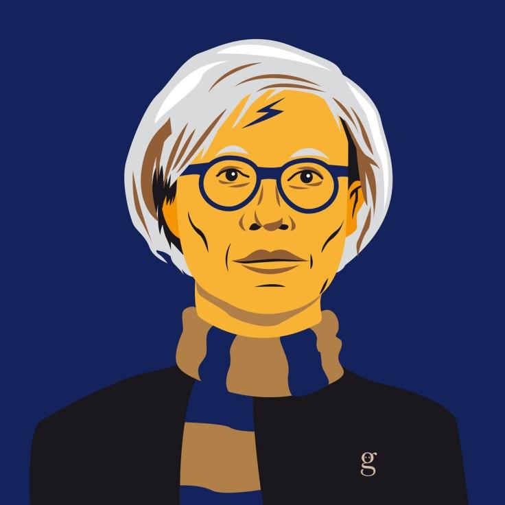 Mashup Andy Warhol x Harry Potter (vector illustration) - variante Serredaigle