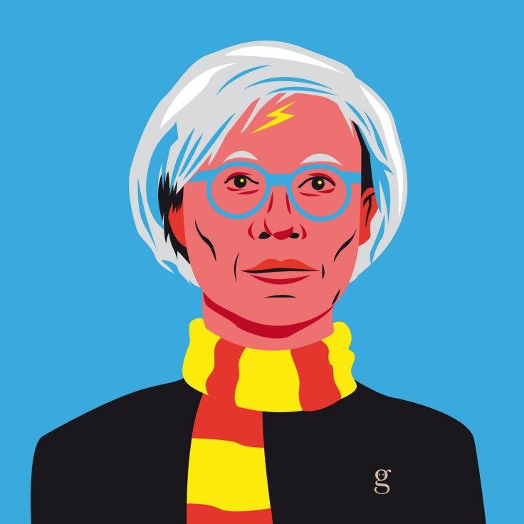 Mashup Andy Warhol x Harry Potter (vector illustration) - variante 1