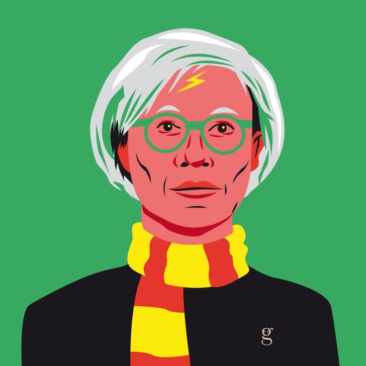 Mashup Andy Warhol x Harry Potter (vector illustration) - variante 2