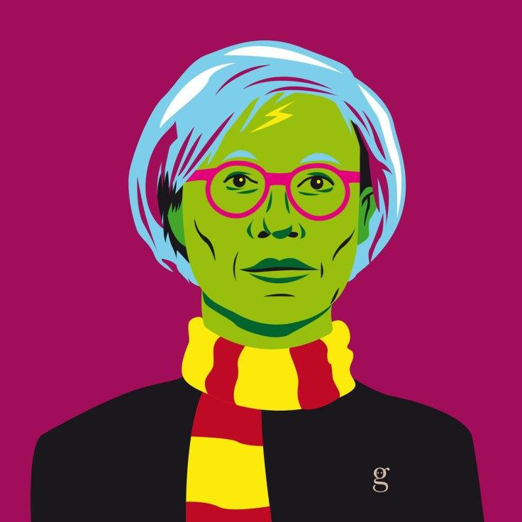 Mashup Andy Warhol x Harry Potter (vector illustration) - variante 3