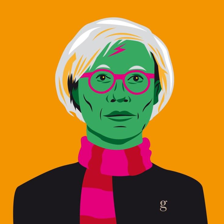 Mashup Andy Warhol x Harry Potter (vector illustration) - variante 4