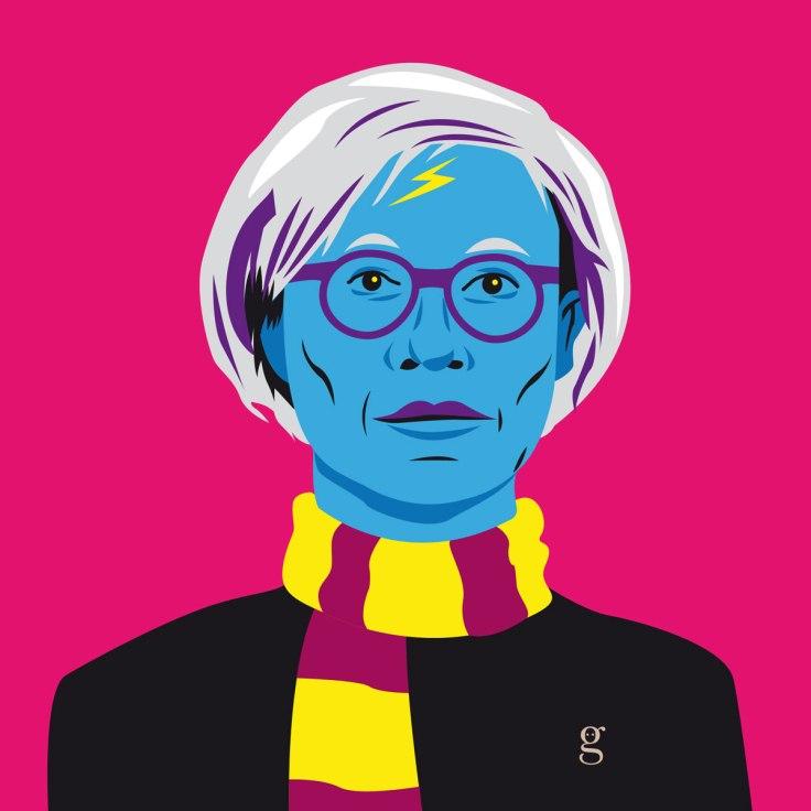 Mashup Andy Warhol x Harry Potter (vector illustration) - variante 5
