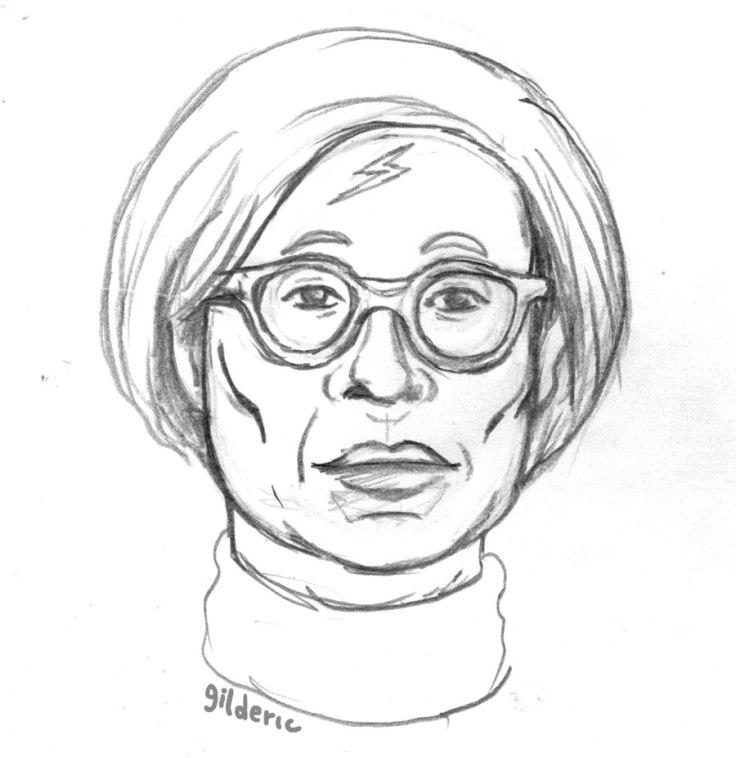 Mashup Andy Warhol x Harry Potter (dessin au crayon)