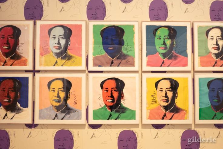 Série de portraits de Mao, par Andy Warhol (La Boverie, Liège)