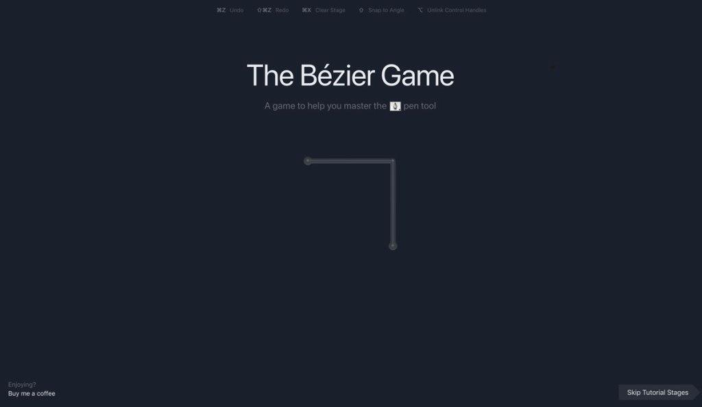 The Bézier Game : un jeu web de Mark MacKay pour apprendre l'outil Plume