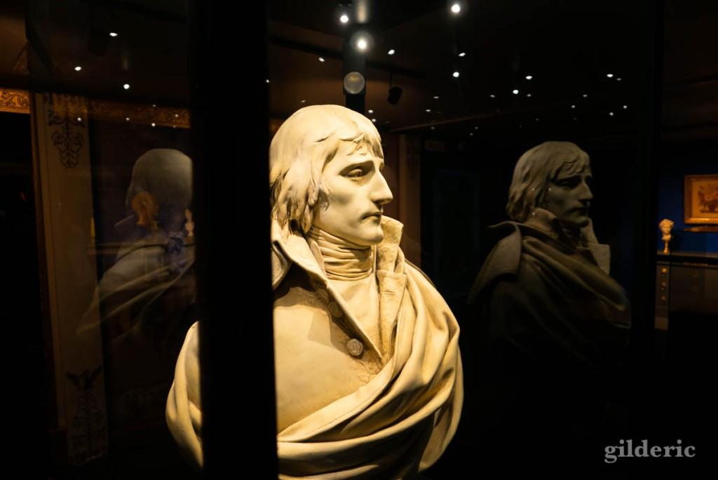 Expo Napoléon : buste de Napoléon Bonaparte (et reflets)