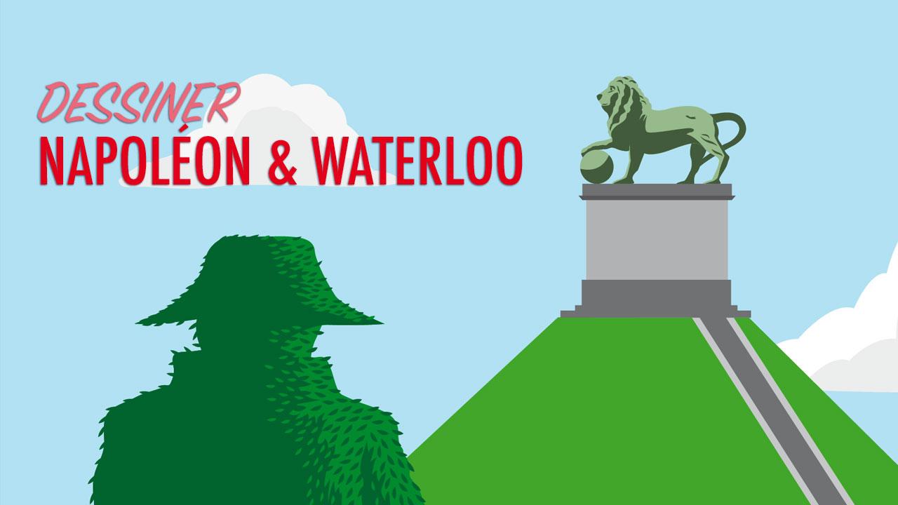 Dessiner Napoléon et Waterloo : de la vidéo au poster