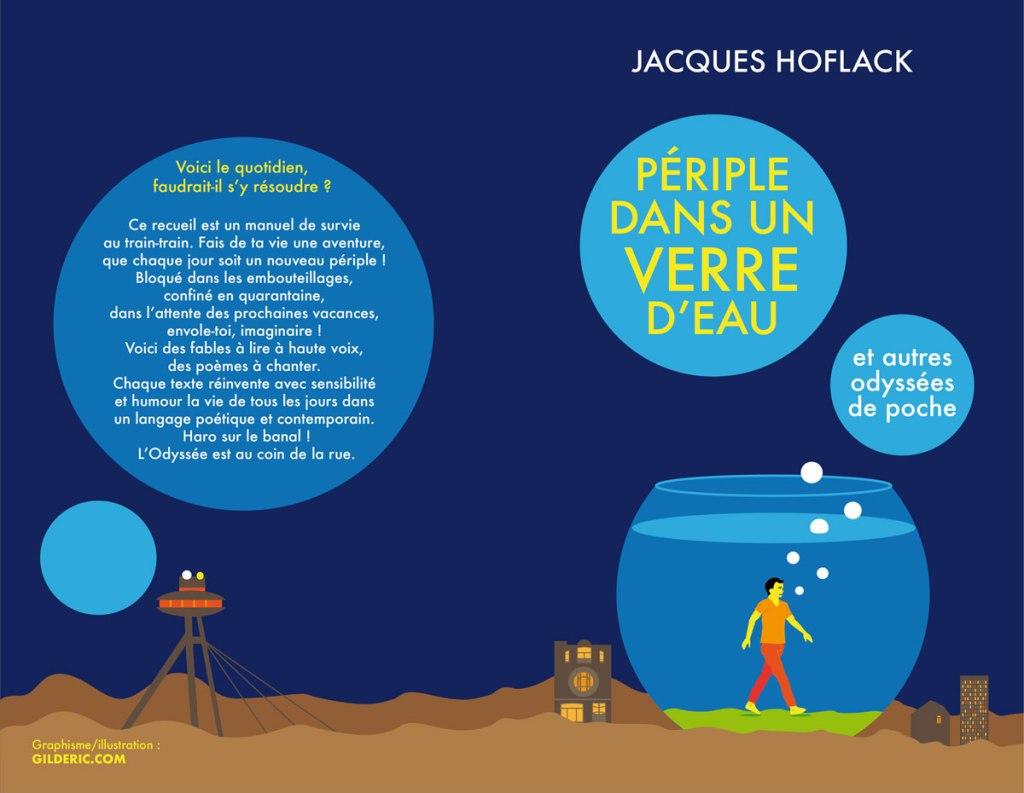 Périple dans un verre d'eau de Jacques Hoflack, illustration de couverture par Gilderic