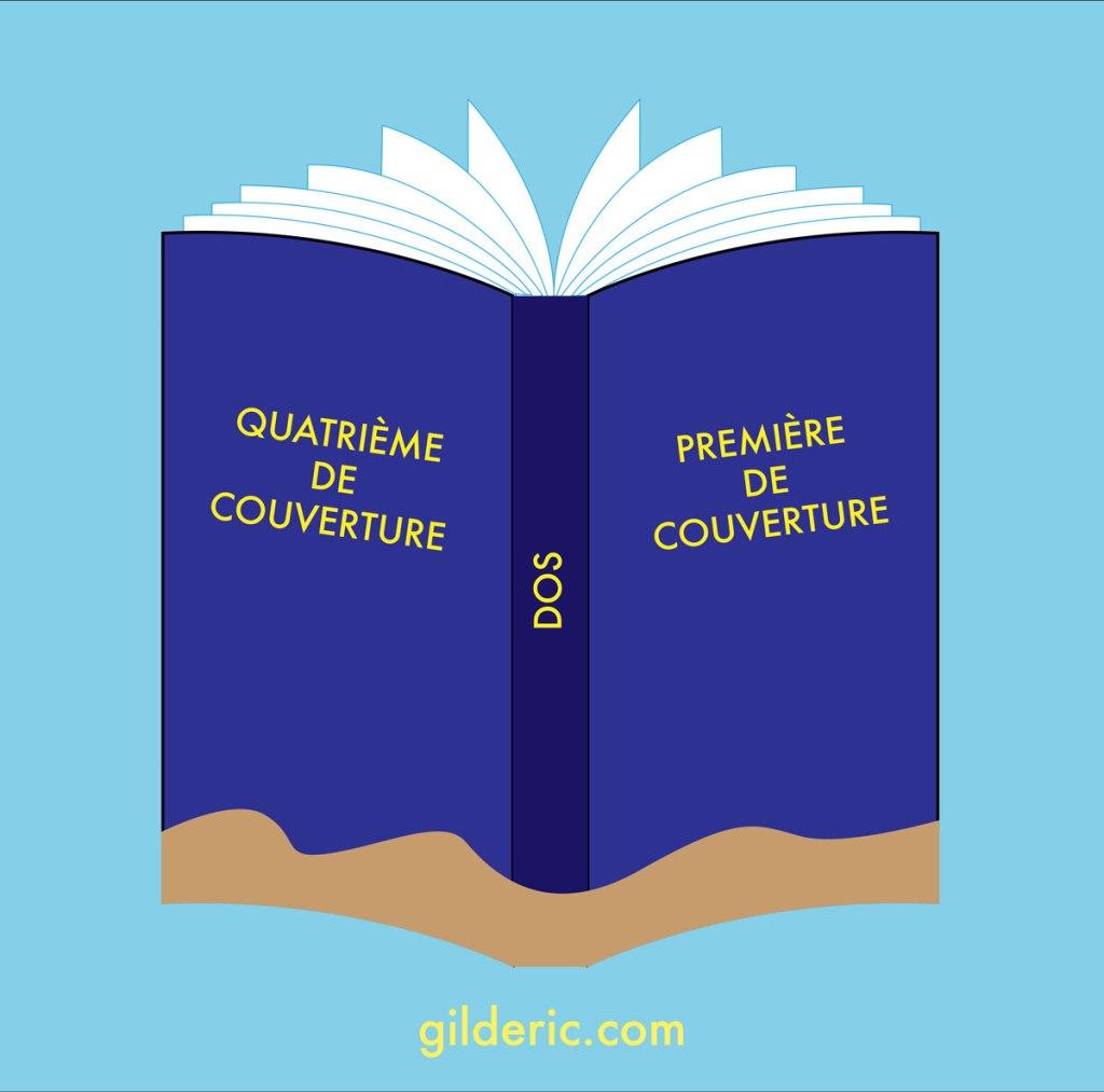 Les éléments d'une couverture (vocabulaire du livre) - illustration vectorielle