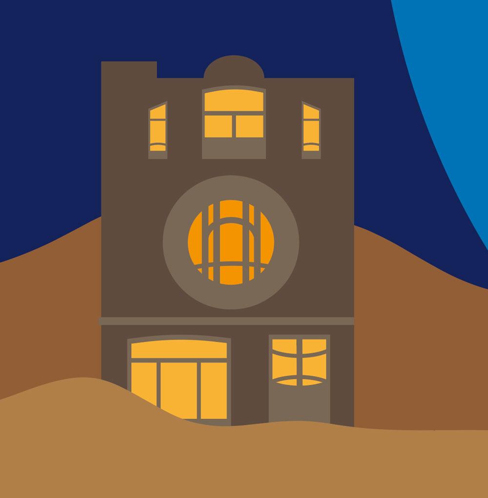 Maison de style Art Nouveau (détail de la couverture) -illustration vectorielle