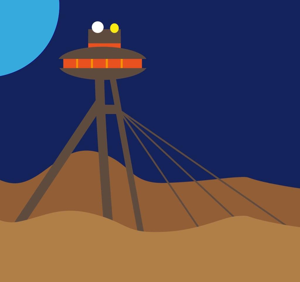 L'UFO, architecture emblématique de Bratislava (illustration vectorielle)