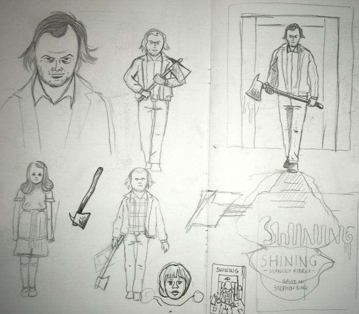 Shining : études et recherches au crayon